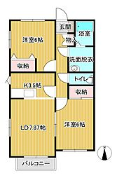 ラシーヌC棟[2階]の間取り