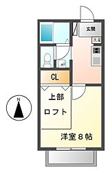 シャトルK[2階]の間取り