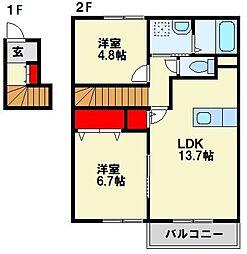 ドルチェII番館[2階]の間取り