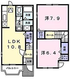 [テラスハウス] 静岡県磐田市豊浜 の賃貸【/】の間取り