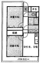 ラフィーヌ・有川壱番館[2階]の間取り