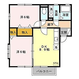 SAKURA Garden A[1階]の間取り
