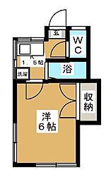 セレーネ大倉山[105号室]の間取り