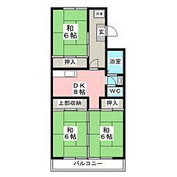東仙台ガーデンハイツIV[3階]の間取り
