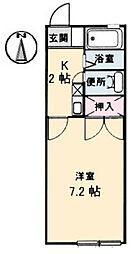 レーヴィンス亀崎(M)[A202号室]の間取り