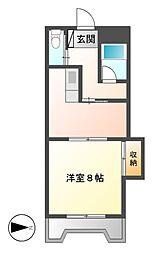 第1奥村マンション[2階]の間取り