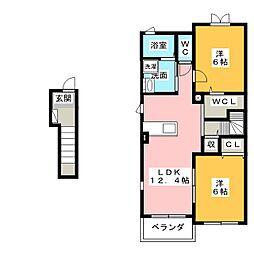 ファインスクエア B[2階]の間取り