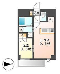 Mステージ矢田南[9階]の間取り