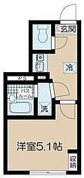 フェリーチェ高円寺B 3階1Kの間取り
