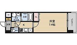 Pi´ece charmante Fukushima 4階1Kの間取り