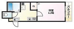 大阪府大阪市平野区長吉六反3丁目の賃貸マンションの間取り