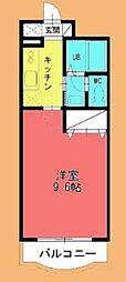 グリーンマンション雅B[2階]の間取り