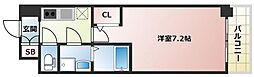 プランドール新大阪PARKレジデンス[7階]の間取り