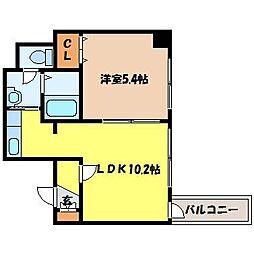 北海道札幌市北区北十九条西6丁目の賃貸マンションの間取り