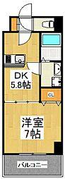 ロゼット3[6階]の間取り
