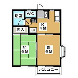 MR松風[1階]の間取り