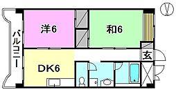 第1ミサワハイツ[302 号室号室]の間取り