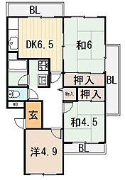 メゾン芝花[4階]の間取り