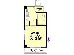 若竹ビル[3階]の間取り