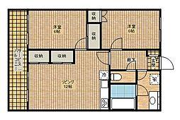新城中島ビル[302号室]の間取り