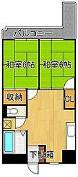 ラディア永犬丸[202号室]の間取り