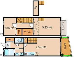[タウンハウス] 兵庫県神戸市長田区西山町1丁目 の賃貸【/】の間取り