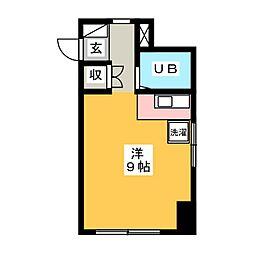グランドゥール稲川II[4階]の間取り