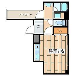 神奈川県横浜市中区根岸町3丁目の賃貸マンションの間取り