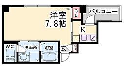 JR東海道・山陽本線 神戸駅 徒歩11分の賃貸マンション 9階1Kの間取り