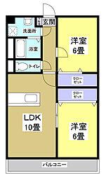マンション華[2階]の間取り