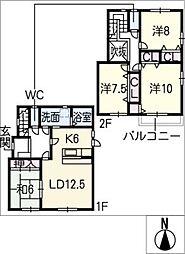 [一戸建] 愛知県名古屋市名東区平和が丘5丁目 の賃貸【愛知県 / 名古屋市名東区】の間取り