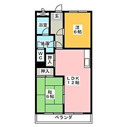パークサイドマンション[1階]の間取り