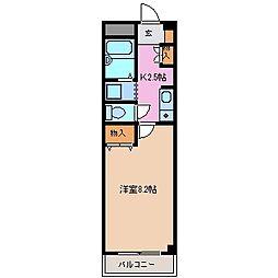 サンハイム駒田[3階]の間取り