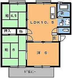 ミキハイツA[105号室]の間取り