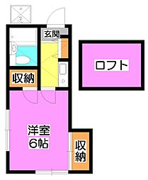 コーポタカハシ[2階]の間取り