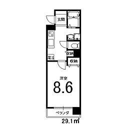 ZEST32[5階]の間取り