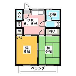 エスケイハイツ[1階]の間取り