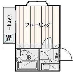 東京都練馬区谷原6丁目の賃貸アパートの間取り