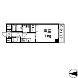 ゼファー東大阪[3階]の間取り