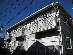東京都日野市大坂上2丁目の賃貸アパートの外観