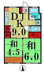 竹の塚駅前ビル[6階]の間取り