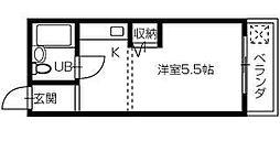 徳島県徳島市出来島本町3丁目の賃貸マンションの間取り