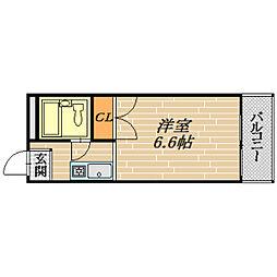 大阪府大阪市旭区新森2丁目の賃貸マンションの間取り
