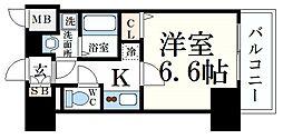 プレサンス神戸元町ミューズ 13階1Kの間取り