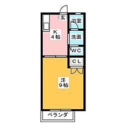 ローズガーデン III[1階]の間取り