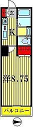 PATIO SQUARE新松戸B[1階]の間取り
