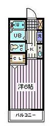 埼玉県さいたま市南区別所5の賃貸アパートの間取り