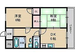 新大阪ロイヤルハイツ[5階]の間取り