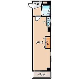 イーストアベニュー和歌山[6階]の間取り