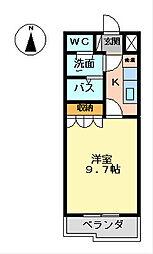 神奈川県相模原市緑区西橋本2丁目の賃貸アパートの間取り